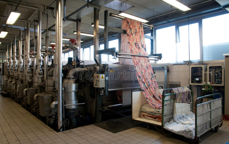 Download Industry: Plant For Textile Printing Royalty Free Stock Photos - Image: 23922638