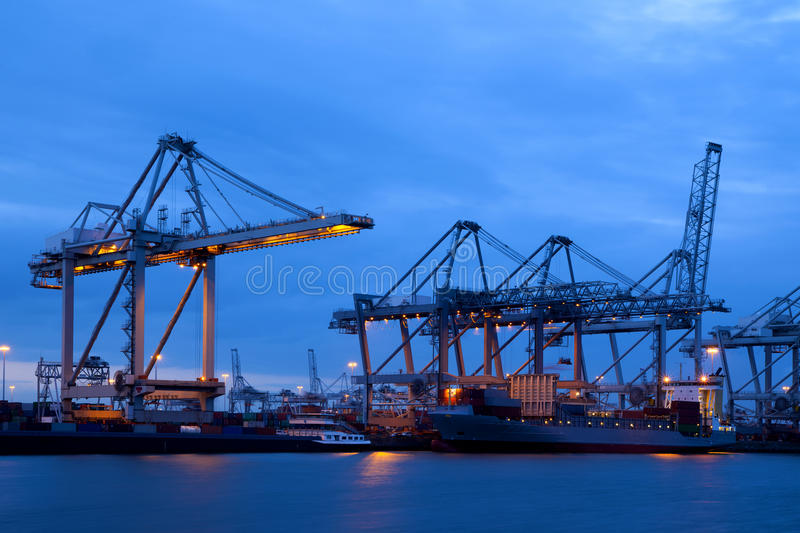 Industry in the port of Rotterdam stock photos