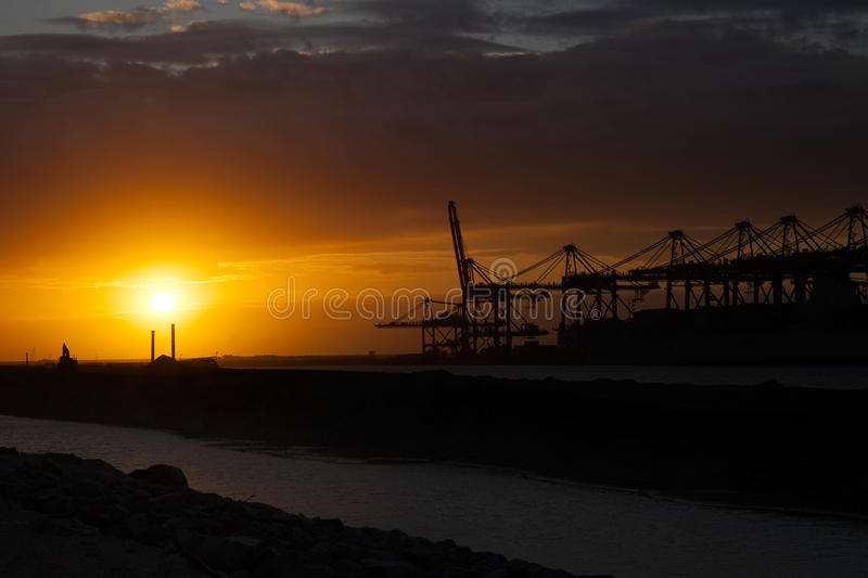 Industry in the port of Rotterdam stock photography