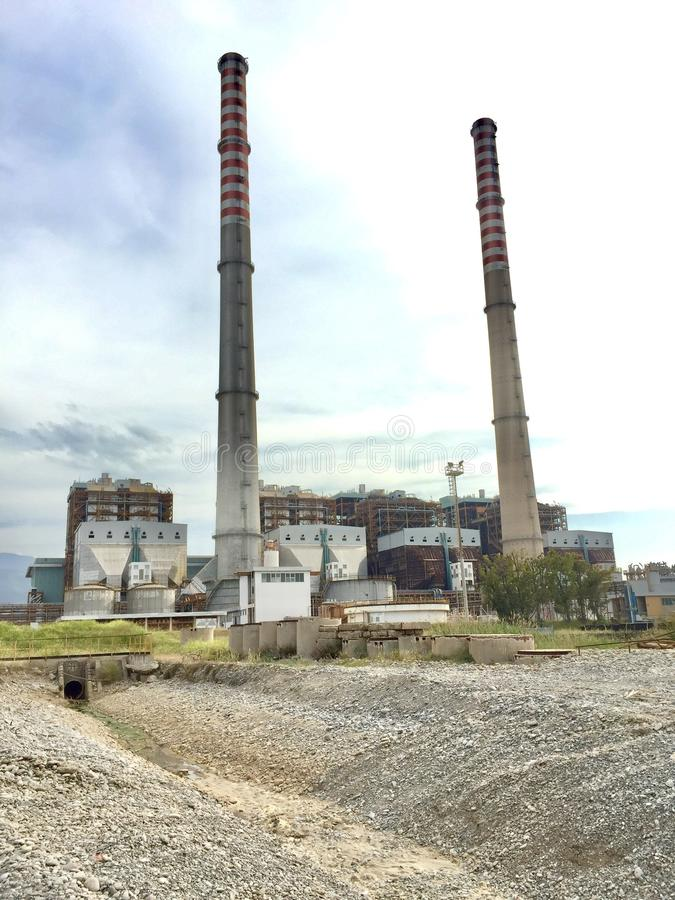 Industry, Shot Tower, Power Station, Chimney royalty free stock image