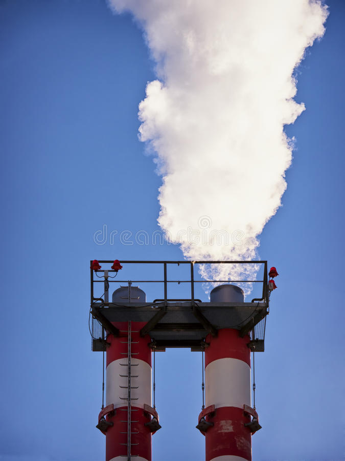 Download Industry smoke stacks stock photo. Image of people, high - 35011274