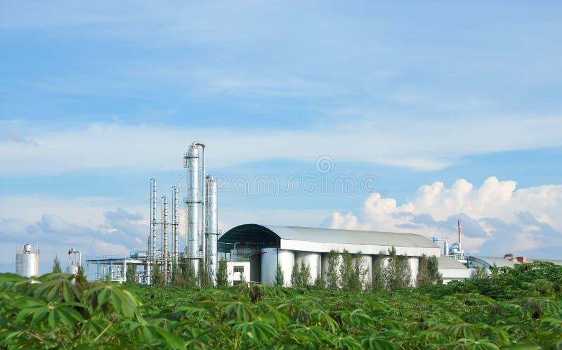 Industry Tapioca. Sky and Industry Tapioca in thailand stock image