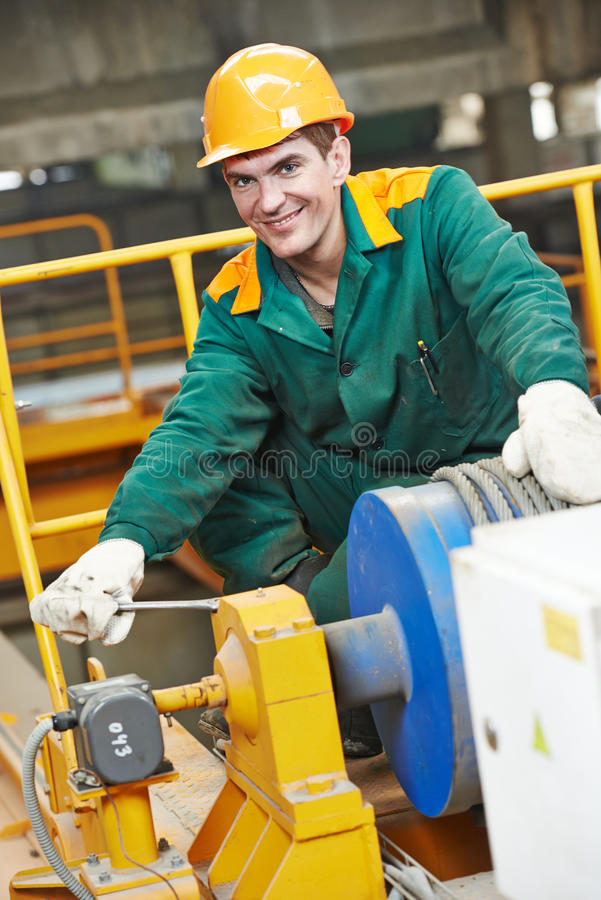 download industry worker technician repairman with spanner stock image image of engineering fitter