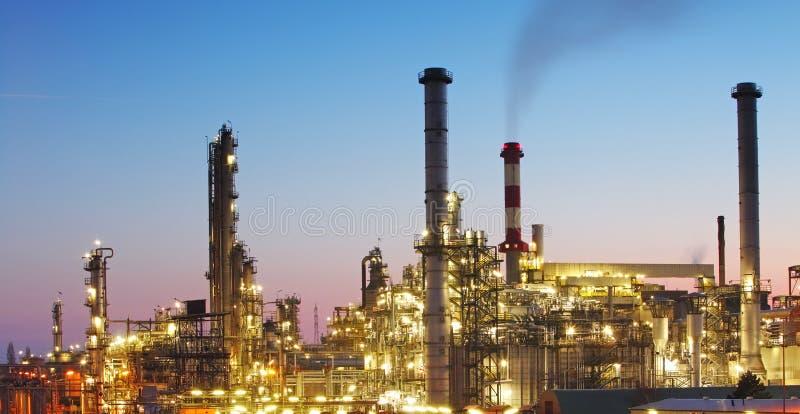 Indutry - fábrica do petróleo e gás - refinaria química imagens de stock