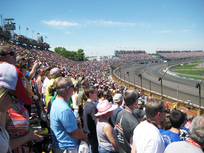 Indy 500 fãs da raça imagem de stock royalty free