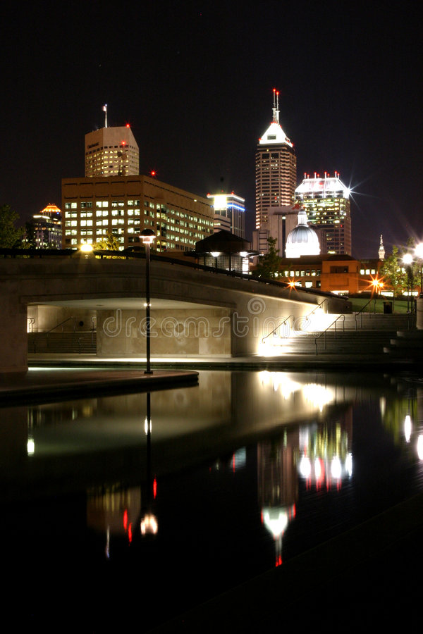Indy at night stock image