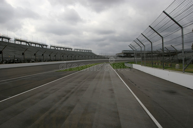 Indy racecourse 2. Indianapolis - racecourse for F1 and Indy 500 stock images