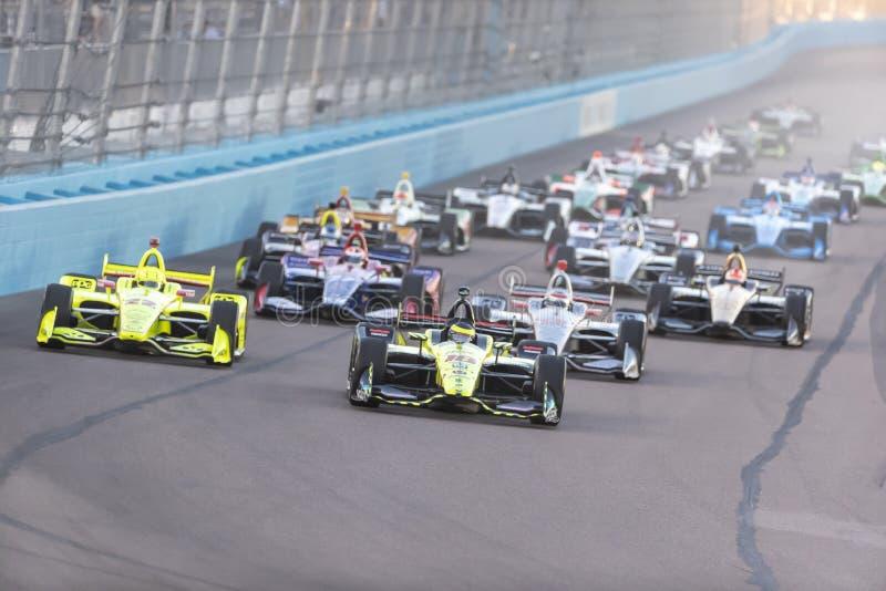 IndyCar: 07 april de Grand Prix van Woestijndiamond west valley casino phoenix royalty-vrije stock foto