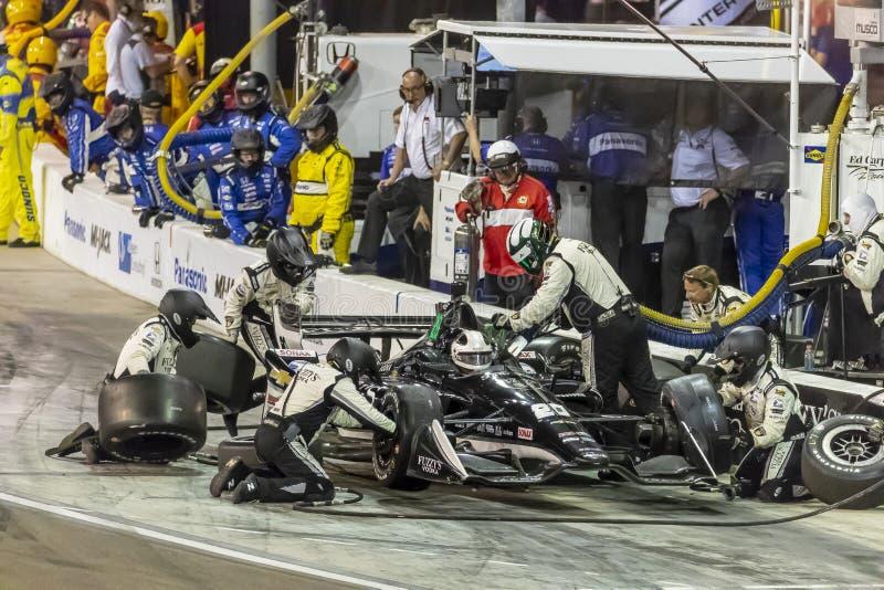 IndyCar: 07 april de Grand Prix van Woestijndiamond west valley casino phoenix royalty-vrije stock afbeeldingen