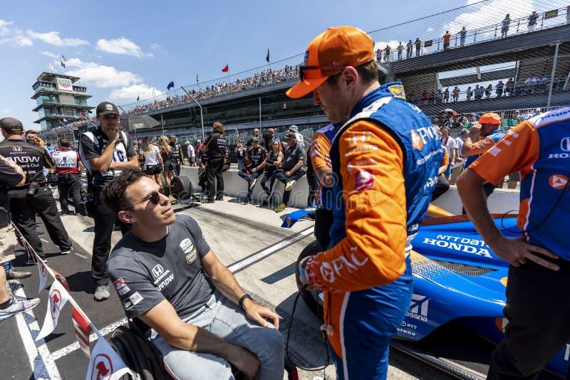 IndyCar: Am 18. April Indianapolis 500 lizenzfreies stockbild