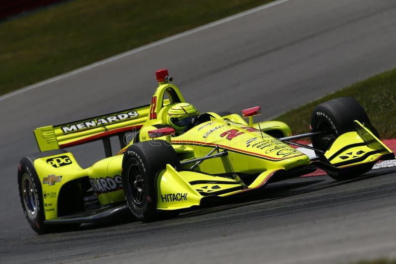 IndyCar: 27 de julio Honda Indy 200 imagen de archivo libre de regalías