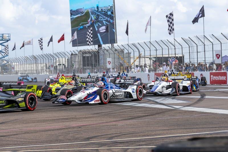 IndyCar: Firestone Grand Prix 10-ое марта Санкт-Петербурга стоковая фотография rf