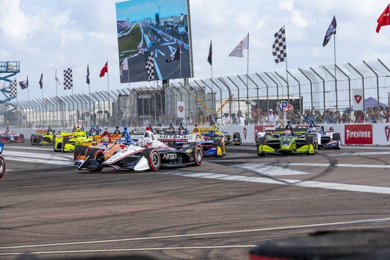 IndyCar: Firestone Grand Prix 10-ое марта Санкт-Петербурга стоковые изображения