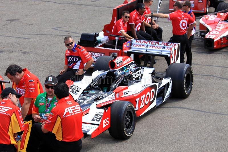 Indycar-Inspektion lizenzfreie stockfotografie