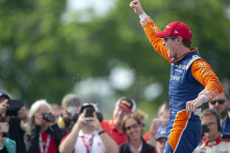 IndyCar: Juni 02 Detroit grand prix royaltyfri foto