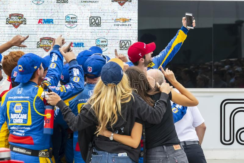 IndyCar: Juni 23 VARV Group Grand Prix royaltyfria bilder
