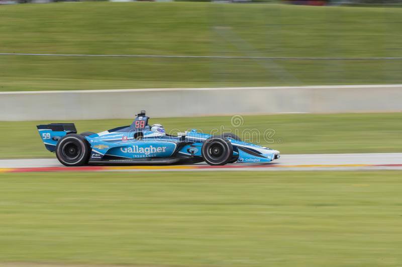 IndyCar: Juni 23 VARV Group Grand Prix royaltyfria foton