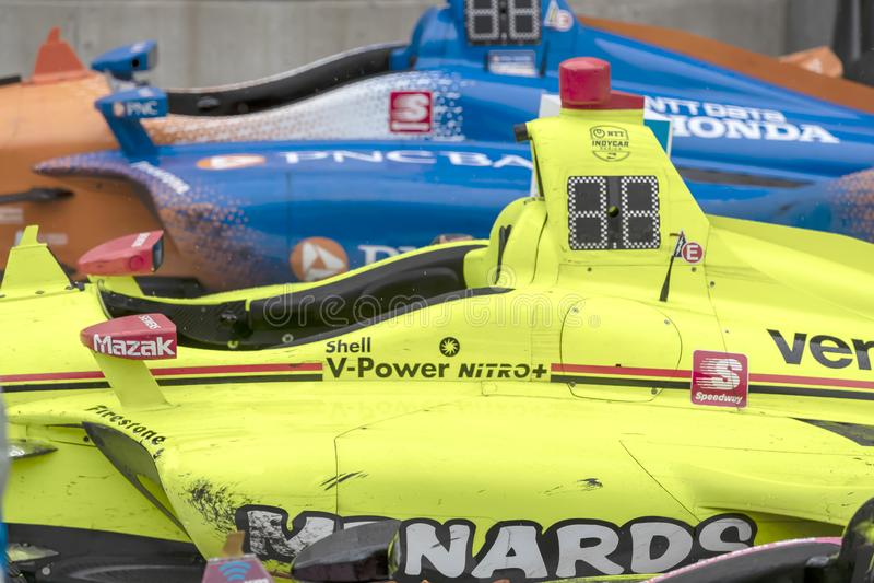 IndyCar: Am 11. Mai IndyCar Grand Prix von Indianapolis lizenzfreie stockfotografie