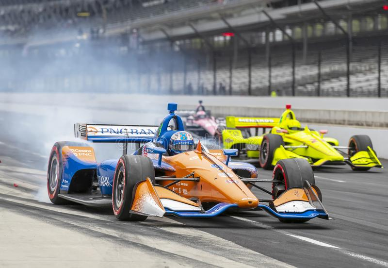 IndyCar: Am 11. Mai IndyCar Grand Prix von Indianpolis lizenzfreies stockfoto
