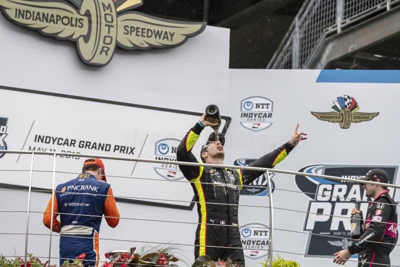 IndyCar: Maj 11 IndyCar Grand Prix av Indianapolis royaltyfri foto