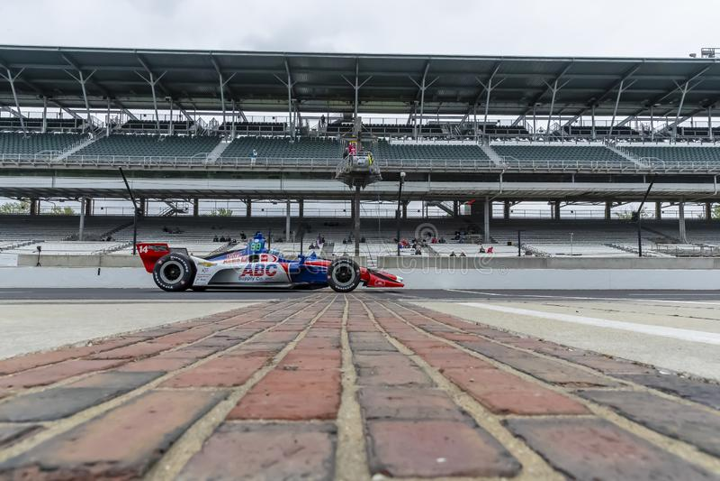 IndyCar: Maj 10 IndyCar Grand Prix av Indianapolis royaltyfria bilder