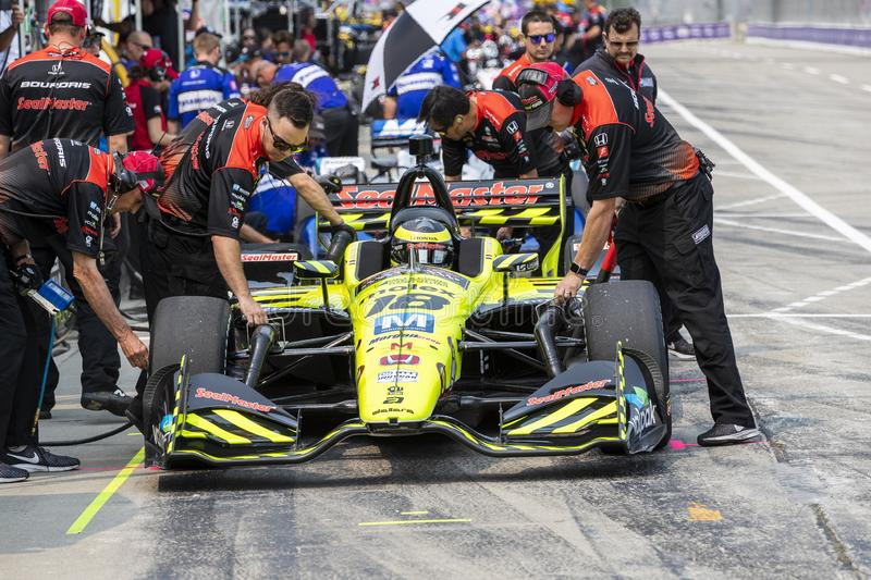 IndyCar:  May 31 Detroit Grand Prix royalty free stock image