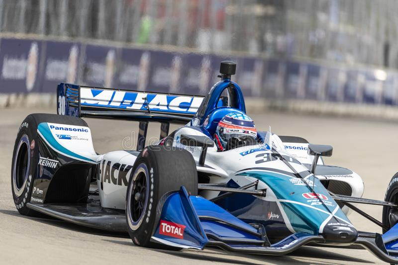 IndyCar:  May 31 Detroit Grand Prix stock photography
