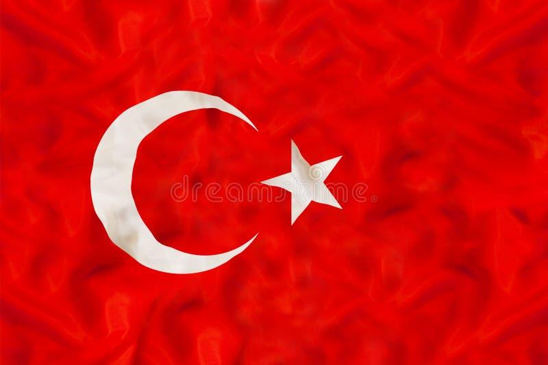Indycza flaga państowowa z falowanie tkaniną zdjęcia stock