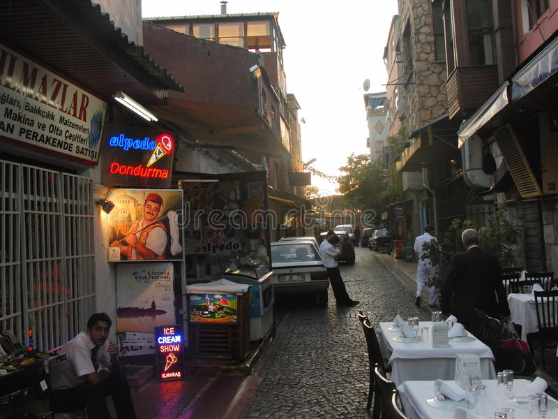 Indycza Istanbul noc obrazy stock