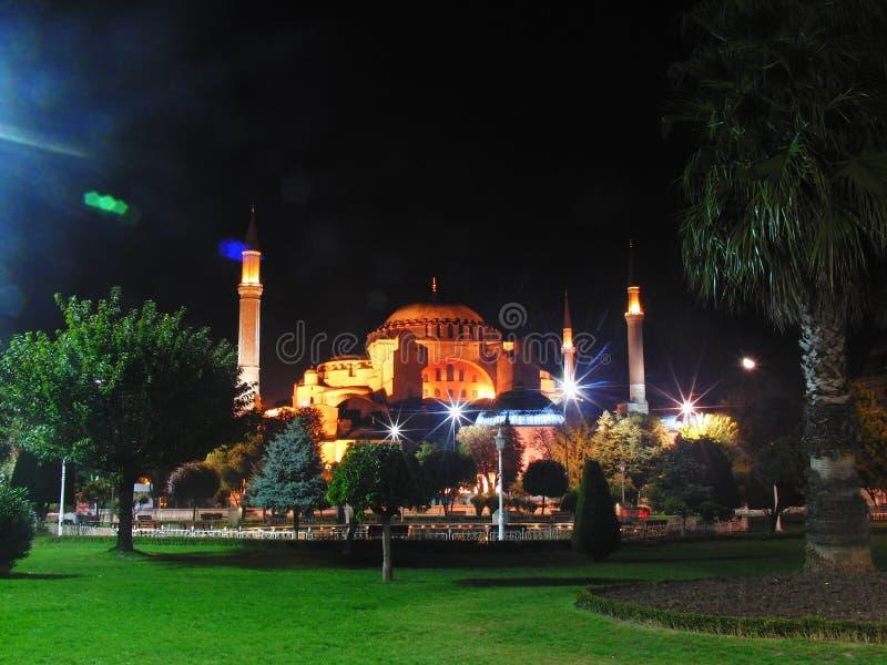 Indycza Istanbul noc fotografia stock