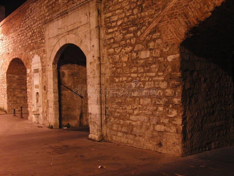 Indycza Istanbul noc obraz royalty free