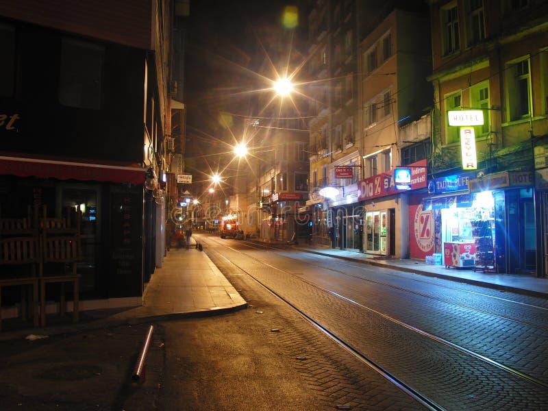 Indycza Istanbul noc zdjęcia stock