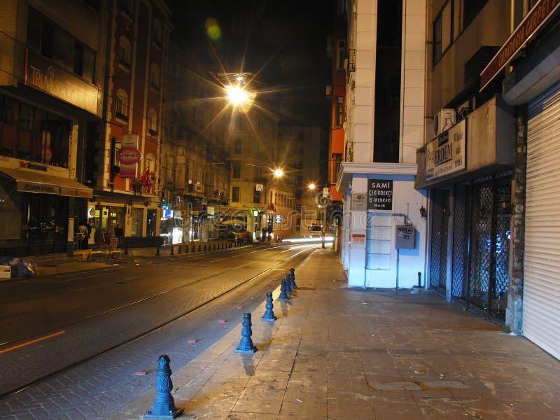 Indycza Istanbul noc zdjęcia royalty free