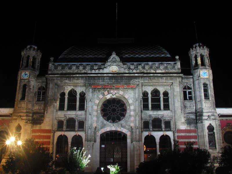 Indycza Istanbul noc obrazy royalty free