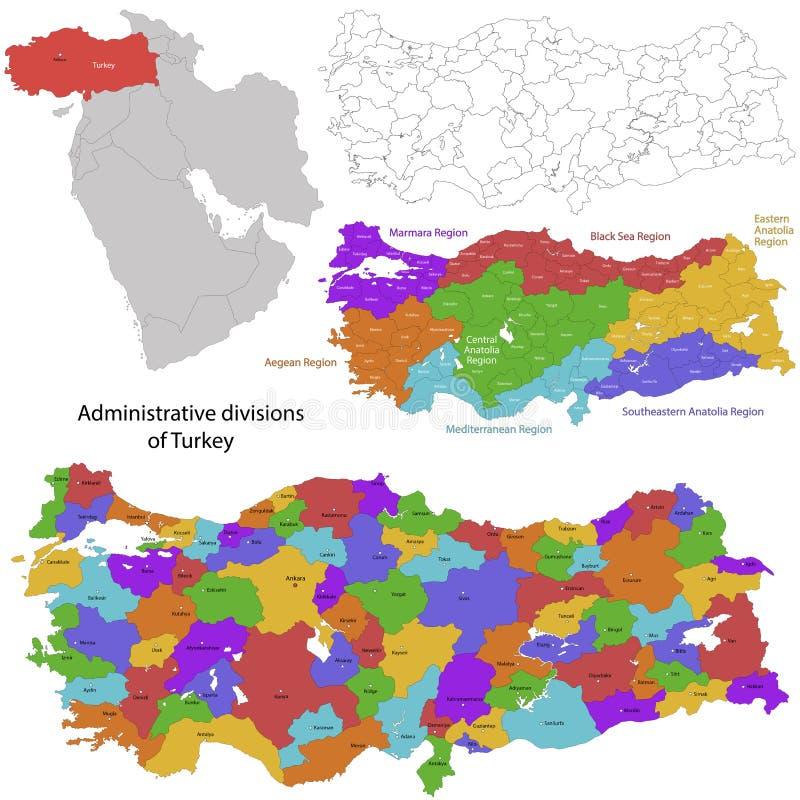 Indycza mapa ilustracja wektor