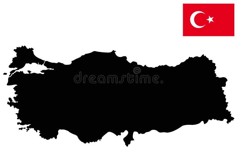 Indycza mapa i flaga - transkontynentalny kraj w Eurasia royalty ilustracja