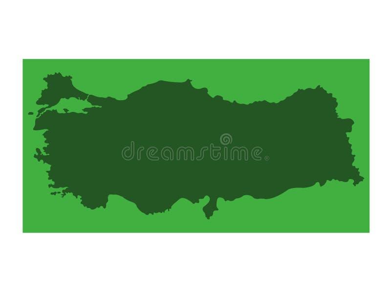 Indycza mapa - transkontynentalny kraj w Eurasia royalty ilustracja