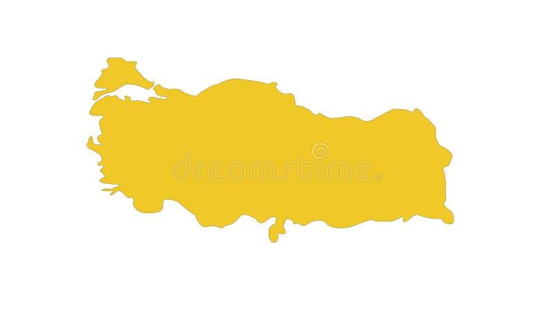 Indycza mapa - transkontynentalny kraj w Eurasia ilustracji