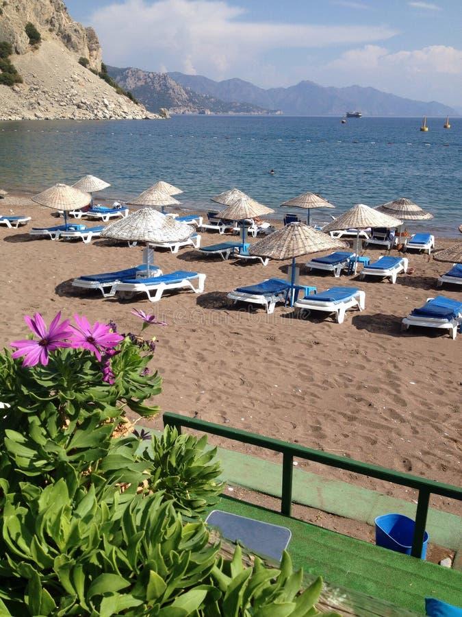 Indycza Turunc plaża, zatoka i zdjęcie stock