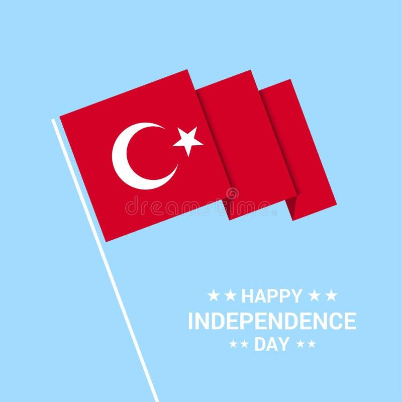 Indyczego dnia niepodległości typograficzny projekt z chorągwianym wektorem ilustracja wektor
