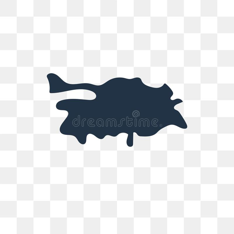 Indyczej mapy wektorowa ikona odizolowywająca na przejrzystym tle, Turke ilustracja wektor