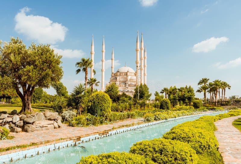 Indyczy Adana Sabanci centrali meczet fotografia stock
