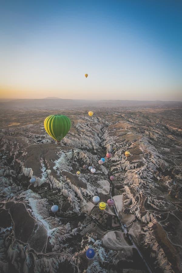 Indyczy gorące powietrze balony fotografia royalty free
