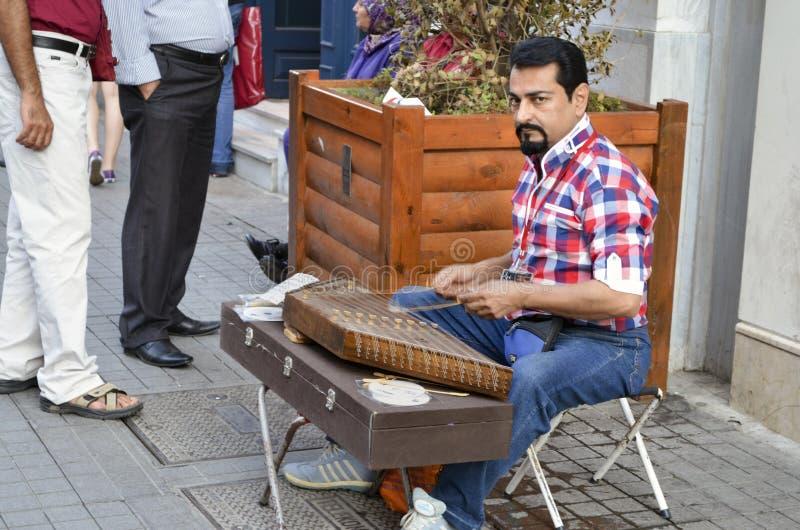 Indyczy ` s najwięcej sławnej ulicy tam jest wiele muzykami na obrazy royalty free