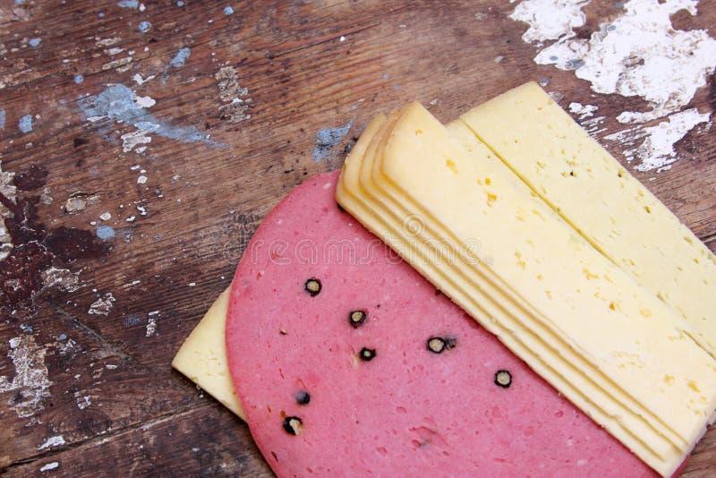 Indyczy ser lub roumy ser z lunchu mięsem zdjęcia royalty free