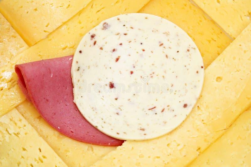 Indyczy ser lub roumy ser z lunchu mięsem z avanti serem zdjęcia royalty free