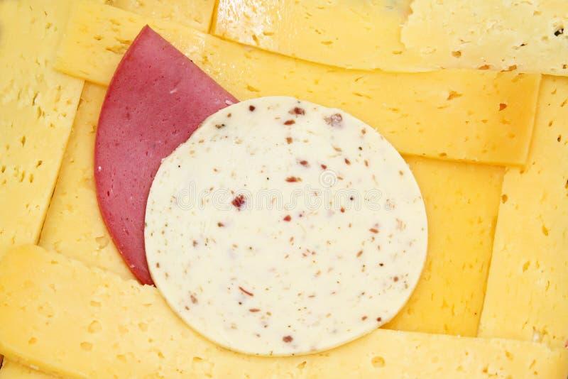 Indyczy ser lub roumy ser z lunchu mięsem z avanti serem obraz stock