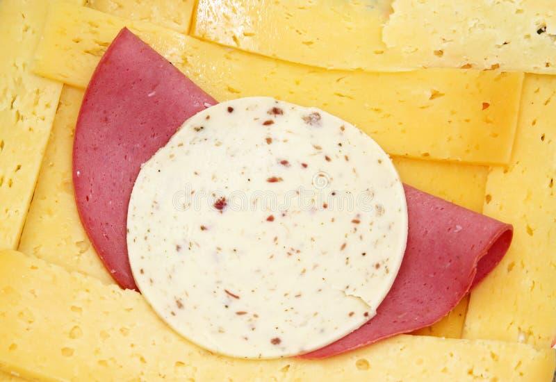 Indyczy ser lub roumy ser z lunchu mięsem z avanti serem fotografia royalty free