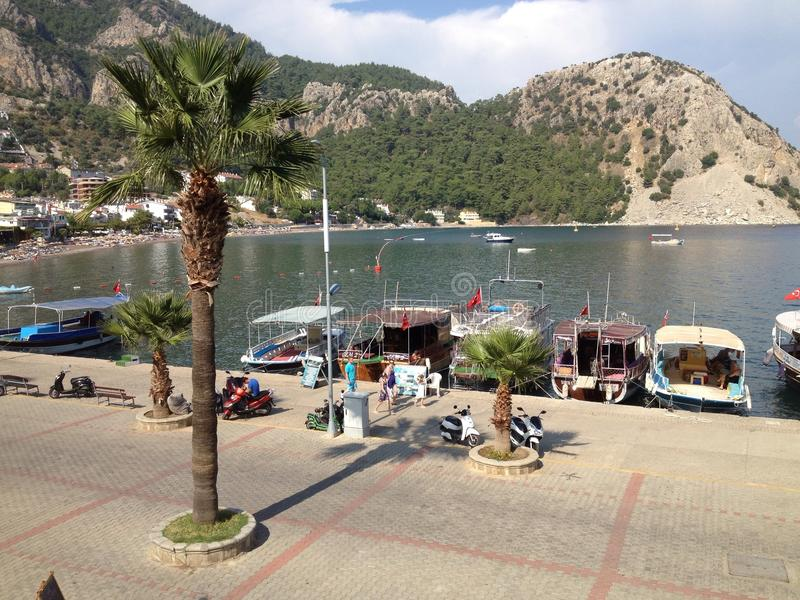 Indyczy Turunc schronienie, łodzie i zdjęcia royalty free