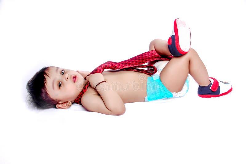 indyjska chłopiec z krawatem zdjęcie stock